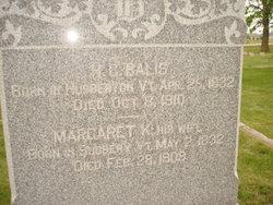 Margaret <i>Ketcham</i> Balis