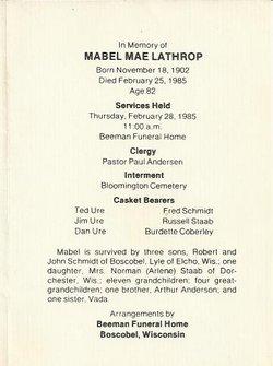 Mabel Mae <i>Anderson</i> Lathrop