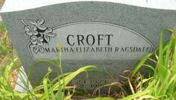 Martha Elizabeth <i>Ragsdale</i> Croft