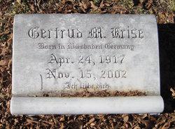 Gertrud M Krise