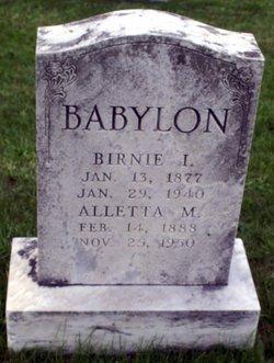 Alletta Margaret <i>Hahn</i> Babylon