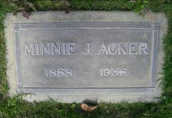 Minnie J <i>Wilson</i> Acker