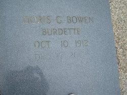 Doris G. Bowen <i>Giddens</i> Burdette