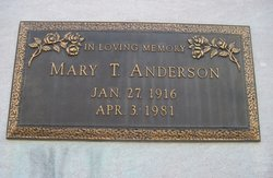 Mary Catherine <i>Thomas</i> Anderson