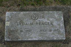 Lyda M <i>Evans</i> Yeager