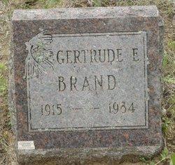 Gertrude Elizabeth Gertie <i>De Haan</i> Hodges Brand
