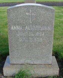 Anna <i>Hagenauer</i> Ackerman