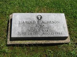 Harold E Acheson
