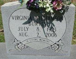 Virginia <i>Williamson</i> Burris