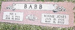 Winnie Evarilla <i>Jones</i> Babb