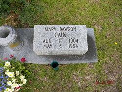 Mary <i>Dawson</i> Cain