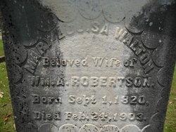 Mary Louisa <i>Walton</i> Robertson
