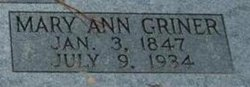Mary Ann <i>Griner</i> Adams