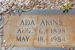Ada Floy <i>Eidson</i> Akins