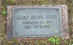 Mary E Mollie <i>Smith</i> Burr