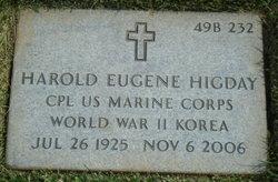 Harold Eugene Higday