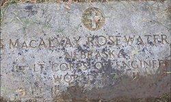 S MacAlvay Rosewater