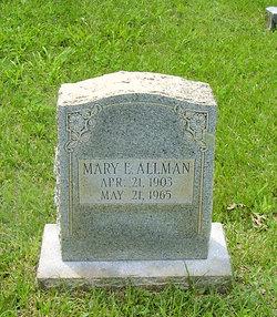 Mary E Allman