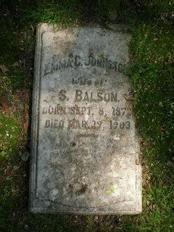 Emma C. <i>Johnston</i> Balson