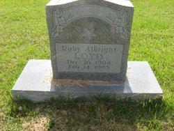 Ruby M. <i>Smith</i> Albright Loyd