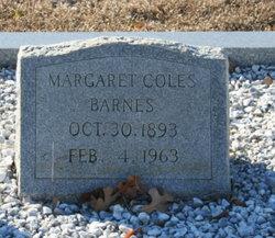 Margaret <i>Coles</i> Barnes