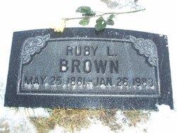 Ruby Lucille <i>Snyder</i> Brown