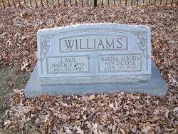 Martha Alberta Bertie <i>Swartz</i> Williams