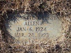 Jeannette <i>Greene</i> Allen