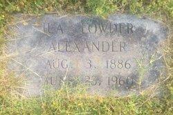 Ila Emaline <i>Lowder</i> Alexander