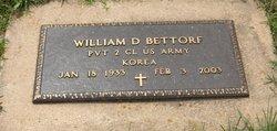 William D Bettorf