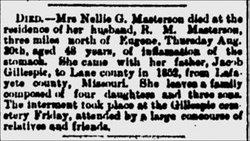 Nellie Jackson Graham <i>Gillespie</i> Masterson