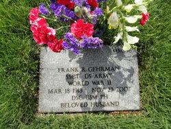 Sgt Frank Rudolph Gehrman