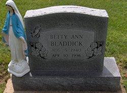 Betty Ann <i>DeGonia</i> Bladdick