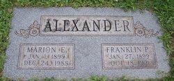 Marion Ellen <i>Wilhide</i> Alexander