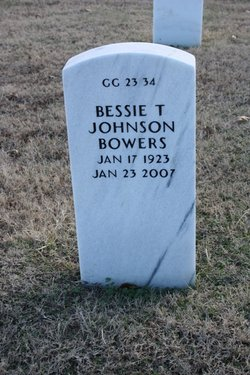 Bessie T. <i>Johnson</i> Bowers