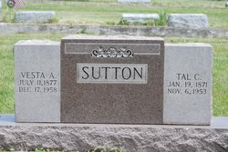 Vesta Amelia <i>Hall</i> Sutton