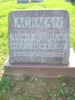 Effie Martha <i>Foster</i> Ackman