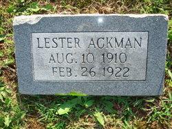 Lester Milton Ackman