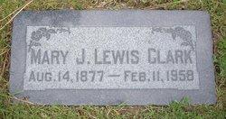 Mary Josephine <i>Horrocks Lewis</i> Clark