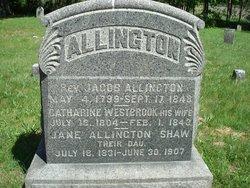 Mrs Catherine E <i>Westbrook</i> Allington