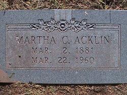 Martha C. <i>Hickman</i> Acklin