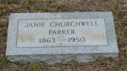 Fannie Jane Jane <i>Churchwell</i> Parker
