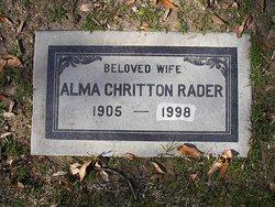 Alma <i>Chritton</i> Rader