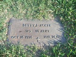 Betty L <i>DeVore</i> Acker