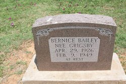 Bernice <i>Grigsby</i> Bailey