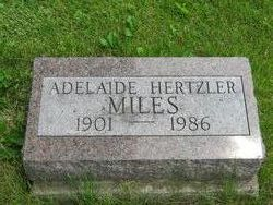 Adelaide <i>Hertzler</i> Miles