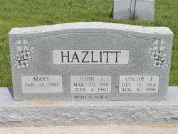 John Junior Johnie Hazlitt