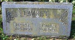 Mary M <i>Benway</i> Favret