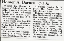 Homer A. Barnes
