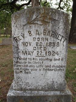 Rev Benjamin Abraham Barnett